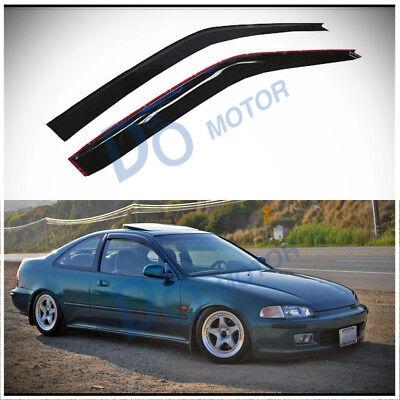 For 92-95 Honda Civic 2-DR Coupe//Hatchback Front Door Window Glass Driver//Left