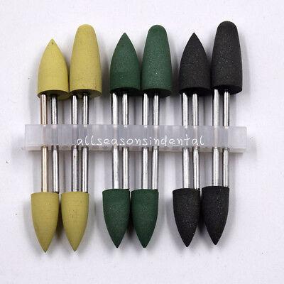 12 Pcskit Dental Silicone Polishers Resin Base Acrylic Polishing Burs 2.35 Mm