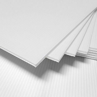 25 Pack Vertical Corrugated Plastic 18 X 23.88 4mm White Blank Sign Sheets