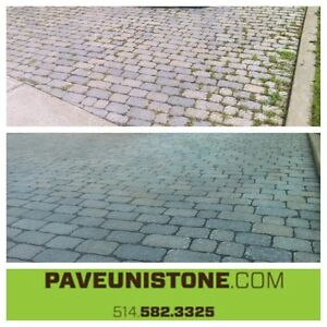 DRIVEWAY CLEANING - HIGH PRESSURE CLEANING - UNISTONE & CONCRETE West Island Greater Montréal image 3