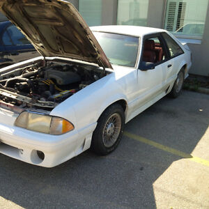 1987-1993 mustang gt front nose