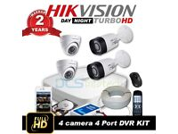 4 x Hikvision 1080p HD CCTV System Installed – Night Vision & Mobile Viewing