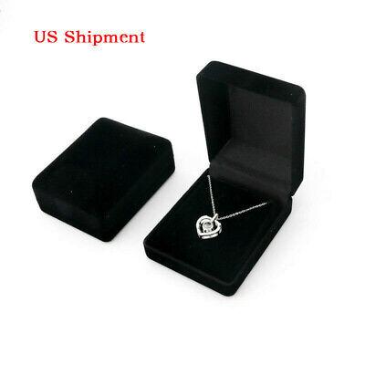 Women Black Velvet Jewelry Gift Box Ring Earring Bracelet Necklace Jewelry Boxes