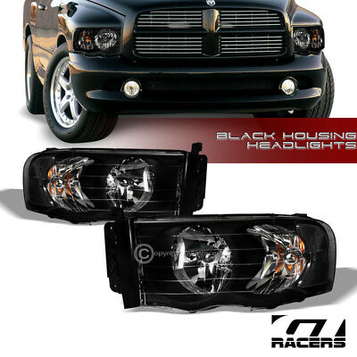 For 2002-2005 Dodge Ram 1500/2500 Black Housing Headlights Corner Signal Lamp Nb