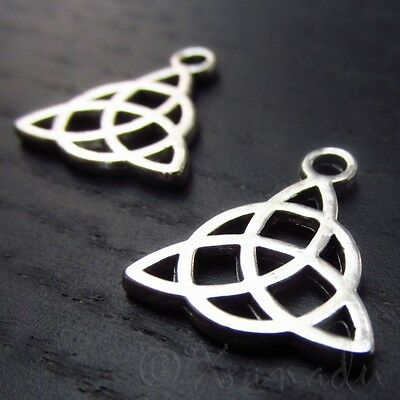 Celtic Trinity Knot 15mm Antiqued Silver Plated Charms C2106 - 10, 20 Or 50PCs Plated Trinity Knot