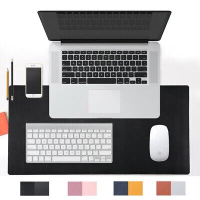Dual Use Desk Pad Office Mat 31.5 X 15.7 Pu Leather Blotter Laptop Pc Black