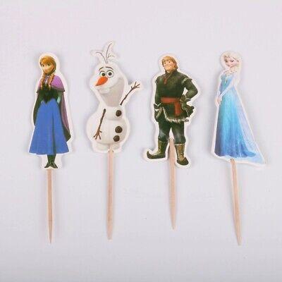 24 Kuchenstecker Topper Eiskönigin Elsa Frozen Cupcake Geburtstag Muffins