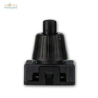 Druckschalter schwarz, 1-polig, EIN/AUS schaltend, max. 230V/2A, Lampen-Schalter