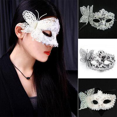 Bling Masquerade Halloween Cosplay Party Lace Butterfly Venetian Princess Mask (Venetian Princess Halloween)