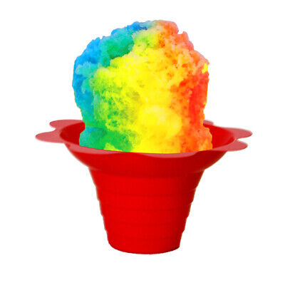 Shaved Ice Sno Cone Flower Cups 4 Ounce Small Case Of 1000 Mixed Colors