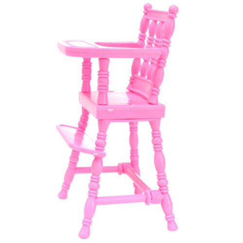 New Pink Plastic Baby High Chair 1/6 Doll's Accessories Hous