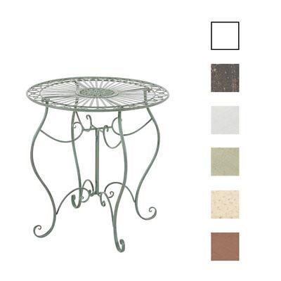 Tisch INDRA Gartentisch Beistelltisch Metalltisch Eisen Terassentisch Shabby