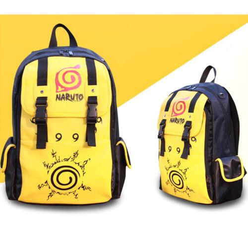 Naruto Four Symbol Seal Konoha Leaf Backpack School Bag Rucksack Satchel Cosplay