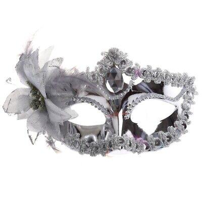 Silbrige Augenmaske Kostueme Maskenball Karneval Maske im venezianischen St D8M8