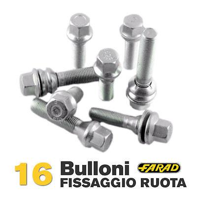 Kit 16 bulloni ruota Fiat Bravo Punto Idea Marea 2001> cerchi in lega Farad