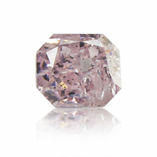 Pink Diamond 0 .15 Ct GIA Certified Loose Natural Radiant Cut Nice Fancy Color