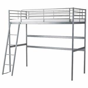 SVÄRTA  Loft bed frame, silver color