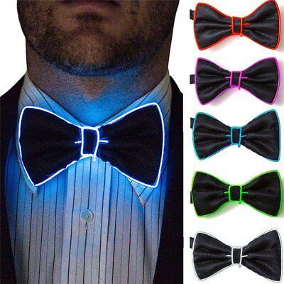 LED Light Up Mens Luminous Bow Tie Necktie Flashing Dance Party Christmas Club - Led Bowtie