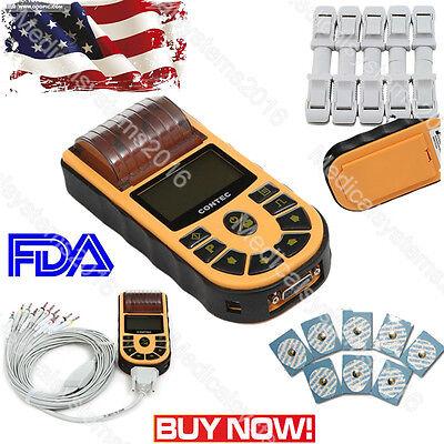 Portable Single Channel 12 Leads Ecgekg Electrocardiographpc Software Contec