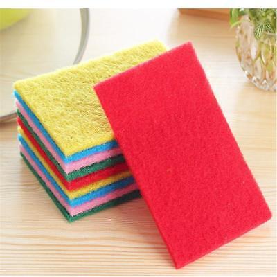 10 Pcs Kitchen Cleaning Sponge Dish Pot Pan Sink Utensil Scouring Pads Scrubbing