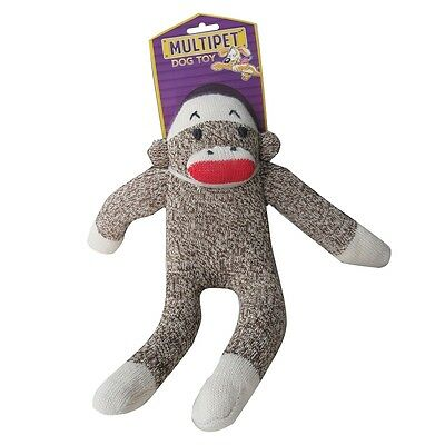 "MultiPet Sock Pals Monkey 10"" Dog Soft Toy"