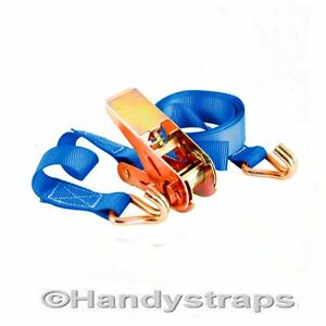 HEAVY-DUTY-5m-x-25mm-RATCHET-TIE-DOWN-STRAP-800kg-VAN-Lashing-FREE-POSTAGE