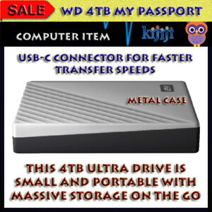 WD - MY PASSPORT ULTRA 4TB EXTERNAL USB 3.0