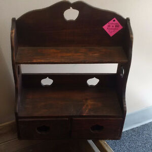 Vintage Small Wooden Shelving Unit Stand Alone or Wall Prince George British Columbia image 1