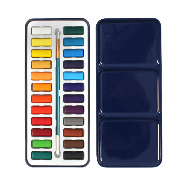 24 Farben Aquarellkasten Aquarellfarben Aquarellfarbkasten Solid Set Pigment Box