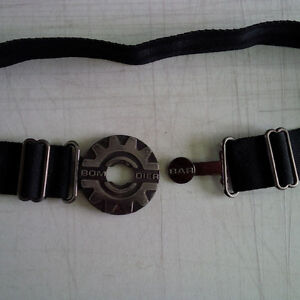 Vintage Bombardier Adjustable Black Belt