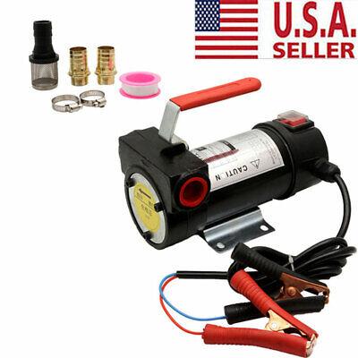 12v Dc Electric Fuel Transfer Pump Portable Diesel Kerosene Oil Commercial Auto