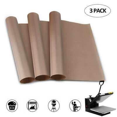 3 Pack Teflon Sheet 16x24 Heat Press Transfer Art Craft Supply Sewing Tool Add