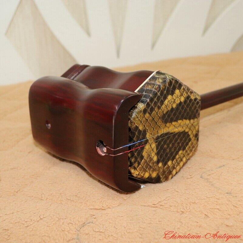 Concert Grade Erhu Chinese Violin Fiddle Redsandalwood Musical Instrument #1546