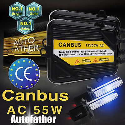 55W H7 AC Canbus HID Xenon Car No FlickerError DRL Driving Lamps Kit All Colors