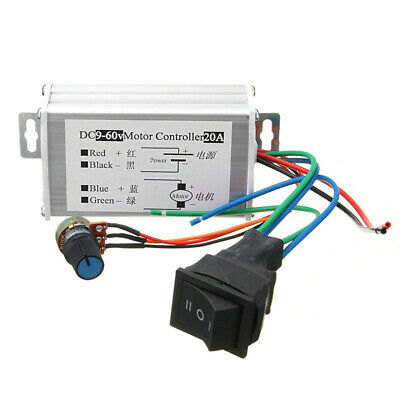 Dc 9v - 60v Max 20a Pwm Motor Stepless Variable Speed Control Controller Switch