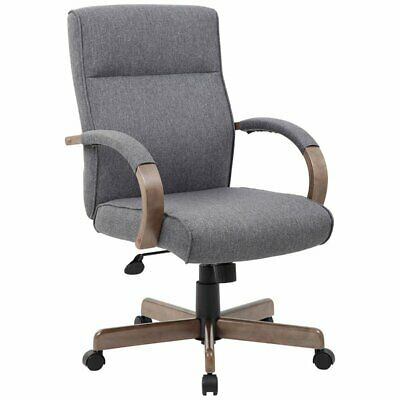 Boss Office Albany Ergonomic Swivel Executive Office Chair In Gray