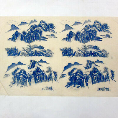 takayama ceramic transfer paper pottery underglazed figure