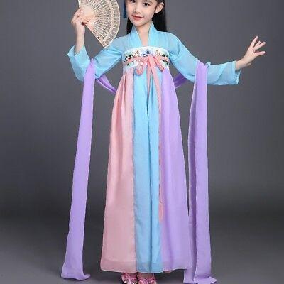 Chinese  Kids Fariy Princess Dress Hanfu Tang Dynasty Dress  Dramaturgic Costume (Fariy Costume)