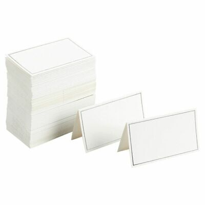 Table Seating Cards (100 Table Place Card for Wedding Banquet Party Event Seating Silver Foil 2 x)