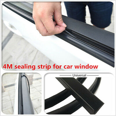 4M Rubber Seal Strips Car Window Door Abnormal Sound Noise Insulation Edge Trim