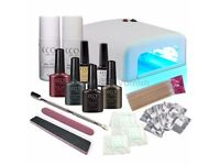BRAND NEW CCO DELUXE WINTER GEL NAIL KIT POLISH VARNISH STARTER SET WITH 36W LAMP LIGHT