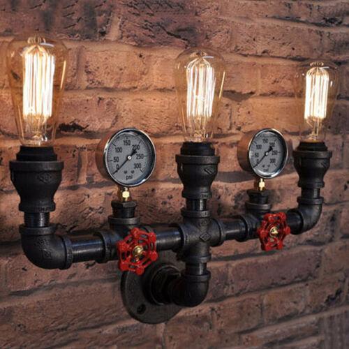 Industrial Steampunk Vanity Lighting Vintage Pipe Wall Sconc