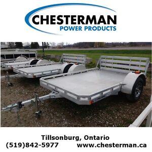 2015 Polaris 6.5x10 Aluminum Utility Trailer - Ramp (PU6.5x10 F- London Ontario image 1