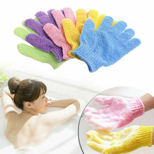 1/2/4/8/10 Pairs Shower Bath Gloves Exfoliating Wash Skin Spa Massage Scrub Body Bath & Body