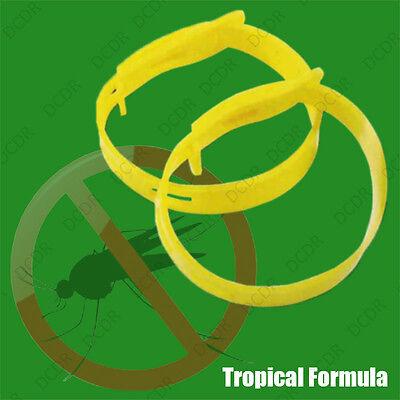 6 x Regolabile Zanzara Repellente Insetti Caviglia Polso Bracciali DEET libero 2