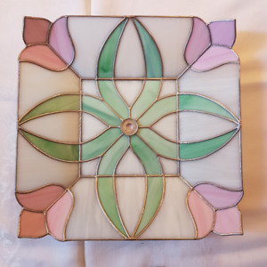 Vintage Stained Glass Ceiling Shade.