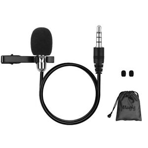 Mugig Mini Lavalier Lapel Microphone, Omnidirectional