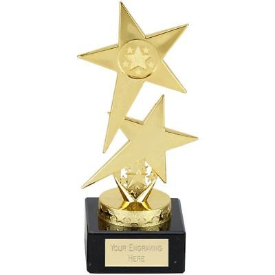 Cheap Trophies - Gold Pole Star Trophy Award for School Sports - Free Engraving