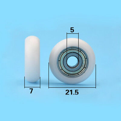 521.57 Mm Nylon Plastic Carbon Steel Pulley Wheel Roller Groove Ball Bearing