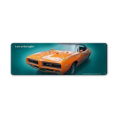 PONTIAC GTO JUDGE LOVE  Metall Schild 61cm schwer FOTOPRINT GM metal sign muscle
